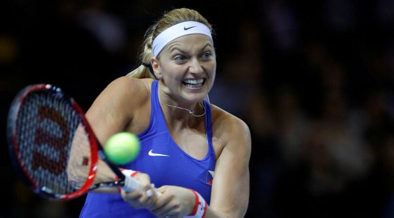 Tennis: la Kvitova si frattura il piede destro
