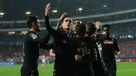 Benfica-Napoli 1-2: Sarri agli ottavi