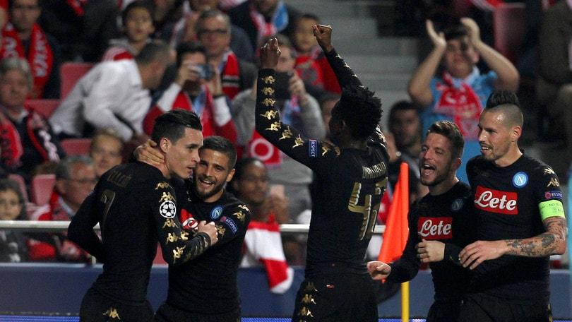 Champions League, Napoli ok: la quota trionfo crolla a 51,00