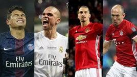 Affari d'oro: i giocatori in scadenza, da Thiago Silva a Robben, da Pepe a Ibra