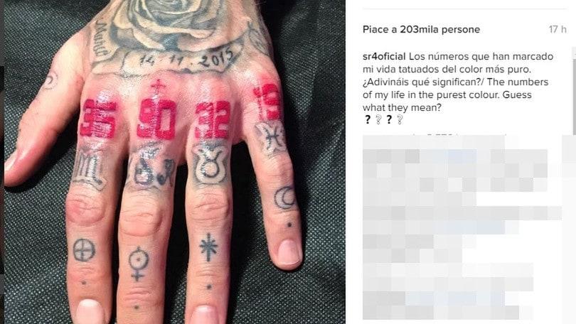 Sergio Ramos, il nuovo tatuaggio è perfetto: 90+