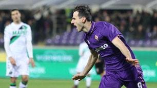 Fiorentina-Sassuolo 2-1: che doppietta per Kalinic!