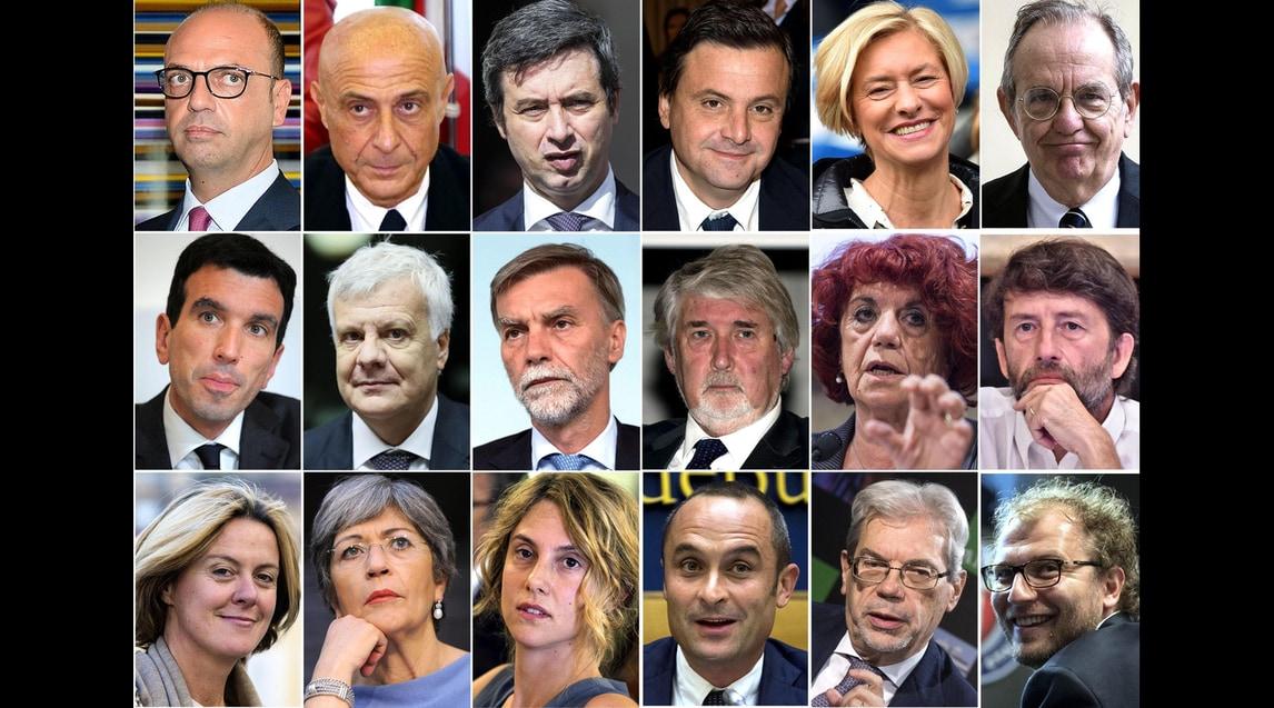 Governo gentiloni ecco la lista con i nomi di tutti i for Nomi politici italiani