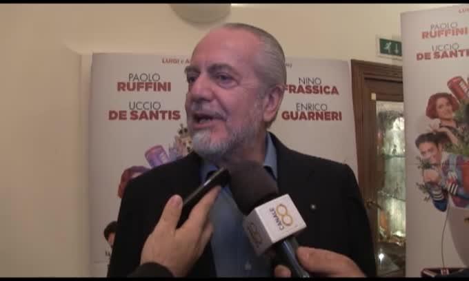 "De Laurentiis: ""Wanda Nara ha 'rischiato' di partecipare nel cast"""