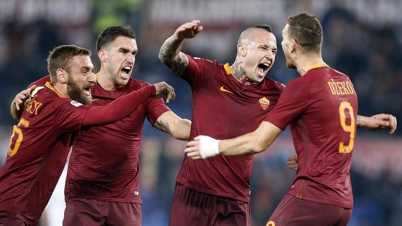Serie A: la Roma vince, cala ancora la quota scudetto