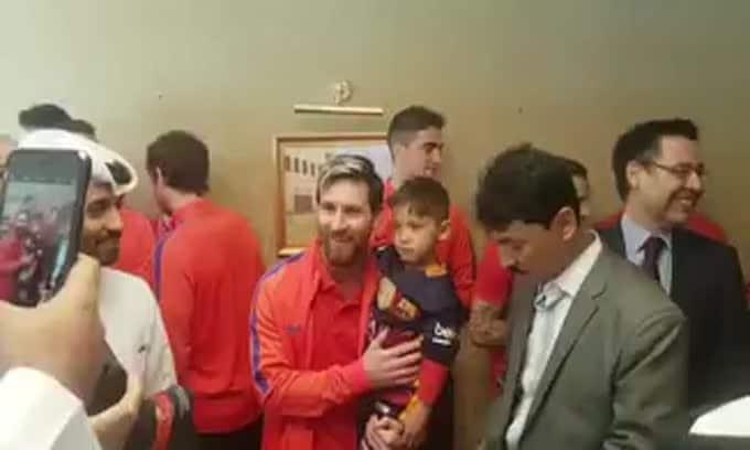 Il piccolo fan afgano Murtaza realizza il sogno: che incontro con Messi!