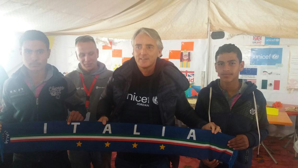 Mancini, missione in Giordania per l'Unicef