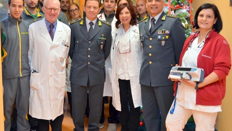 Le Fiamme Gialle in visita all'Ospedale Grassi di Ostia