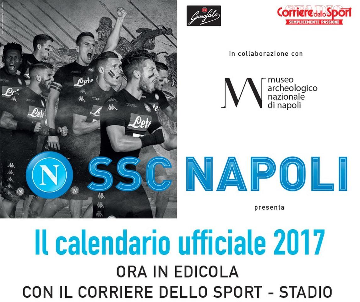 Napoli presentato il calendario 2017 foto bellissime per for Ercole farnese 2017