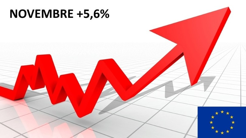 Mercato auto Europa, a novembre cresce del 5,6%