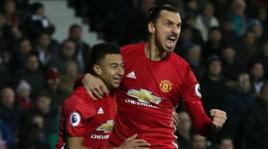 West Bromwich-Manchester United 0-2, le immagini della doppietta di Ibra