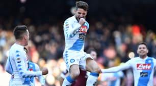 Serie A, poker show di Mertens al Torino: il Napoli vince 5-3