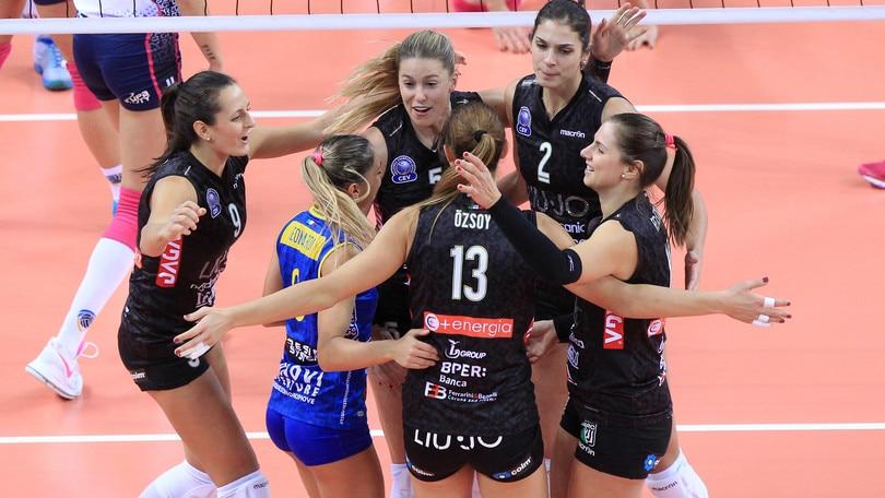 Volley: Champions Femminile, Modena si impone in Polonia