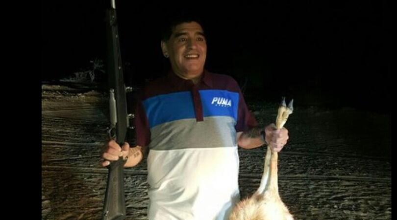 Foto con la preda in via d'estinzione. Ma è Maradona?