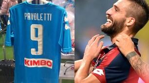A Napoli spunta già la maglia di Pavoletti