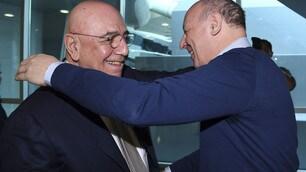 Galliani-Marotta, l'abbraccio a Doha dopo le polemiche