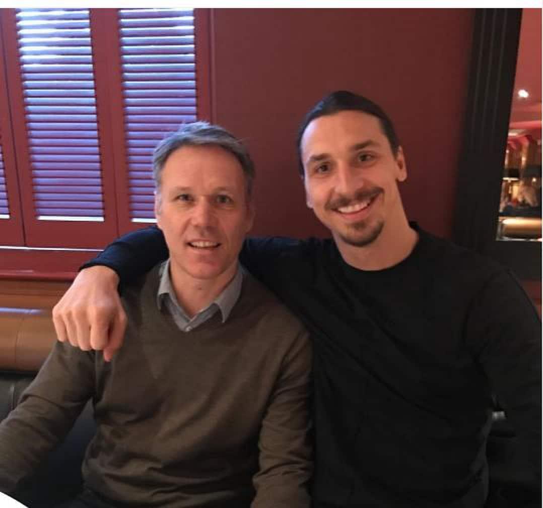 Ibrahimovic e Van Basten, l'abbraccio che spopola sul web