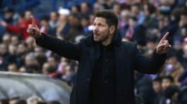 Simeone a Valdano:«L'Inter? Invenzioni. Il mio posto è all'Atletico Madrid»