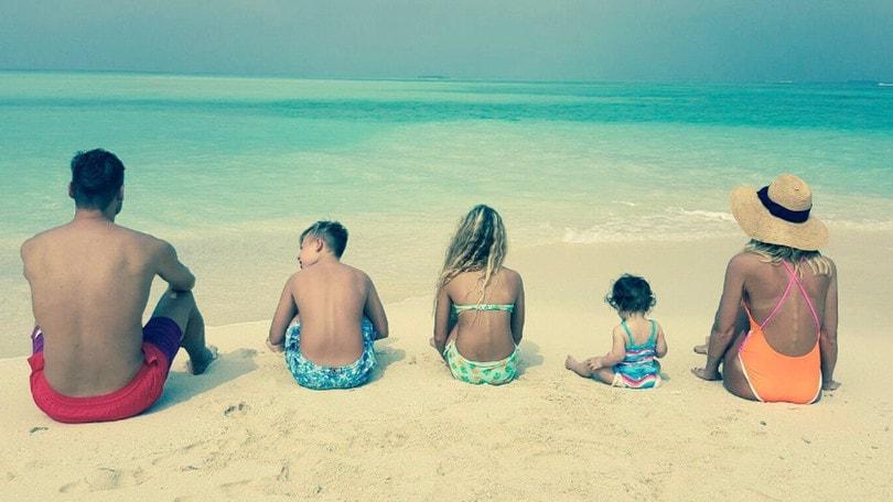 Totti e Ilary alle Maldive con i figli: «Il regalo più bello»