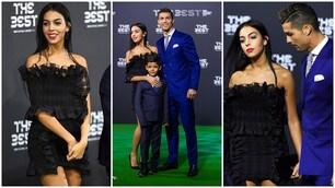 """Cristiano Ronaldo """"The Best"""", ma gli occhi sono tutti per Georgina Rodriguez"""