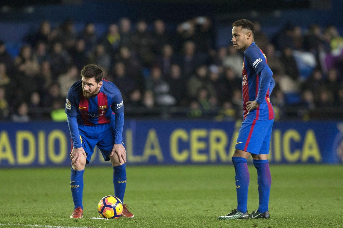 Neymar, assist a Messi: