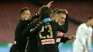 Coppa Italia, il Napoli passa ai quarti: 3-1 allo Spezia
