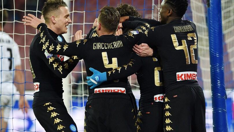 Coppa Italia, Napoli-Spezia 3-1: Pavoletti in campo all'80', che gol Giaccherini