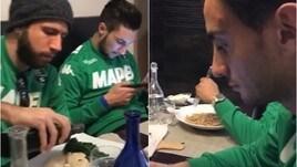 Cosa mangiano i giocatori del Sassuolo?