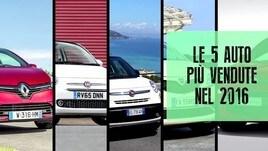 Le 5 auto più vendute in Italia nel 2016