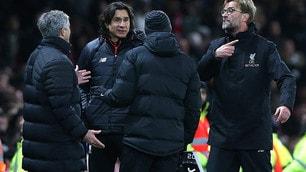 Klopp-Mourinho, scintille a bordocampo
