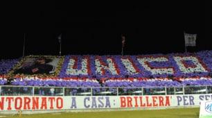Fiorentina-Juve: «Unico 10», coreografia stellare per Antognoni