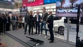 Dzeko a un evento Nissan: «Avete visto con quanta energia ho tirato il rigore?»