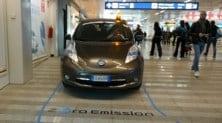 Nissan, shuttle elettrico gratuito all'aeroporto di Fiumicino