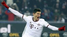 Friburgo-Bayern Monaco 1-2: la decide Lewandowski al 91'