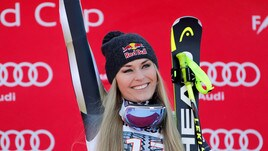 Lindsey Vonn: bellezza, bravura e cosmeticinella discesa di Garmisch-Partenkirchen