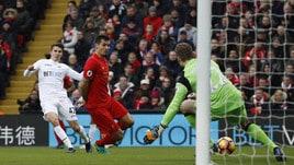 Liverpool-Swansea 2-3: doppietta per Llorente, conclude Sigurdsson