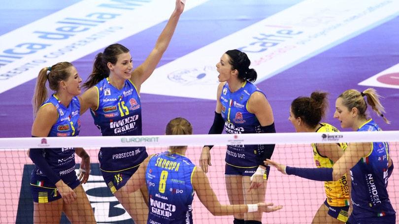 Volley: A1 Femminile, Conegliano batte Firenze e va in testa