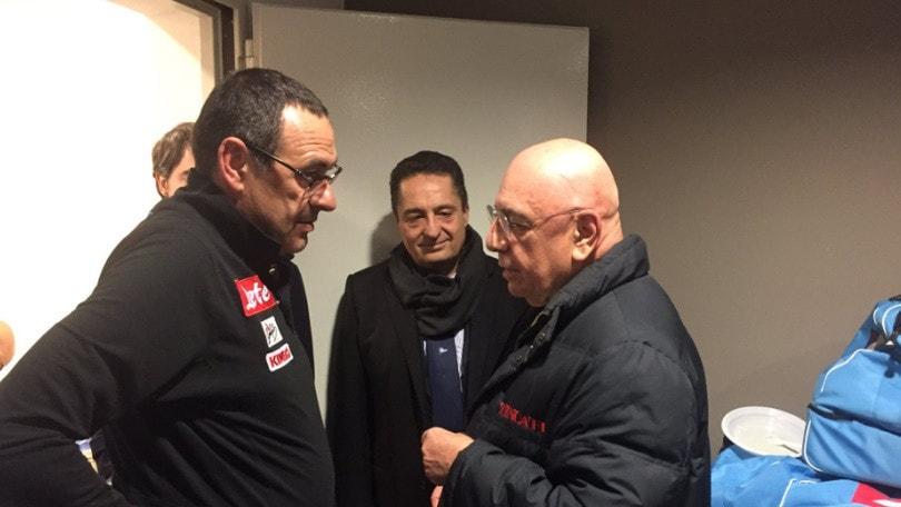 Terzo tempo a San Siro: Galliani si complimenta con Sarri