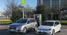Audi e Volkswagen, l'impegno per la rete di ricarica elettrica