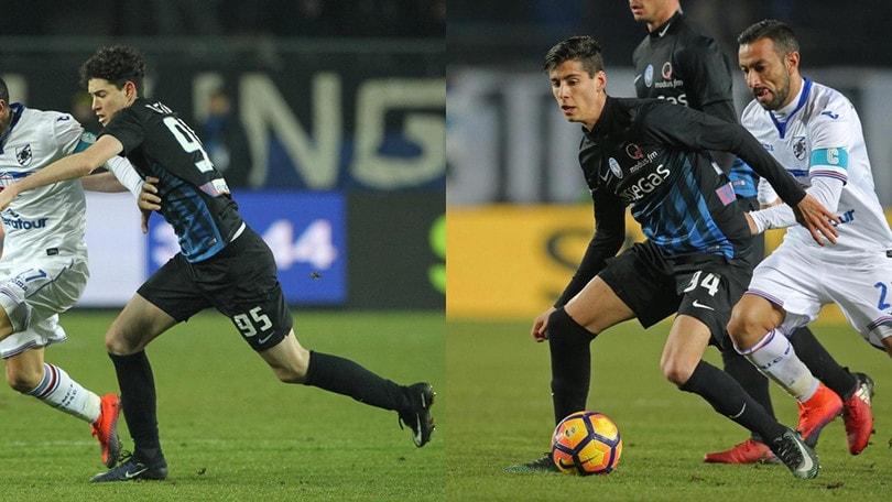 Atalanta, contro la Sampdoria scendono in campo due 17enni