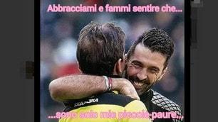 Buffon, Tagliavento e l'abbraccio di fine partita: polemiche sui social