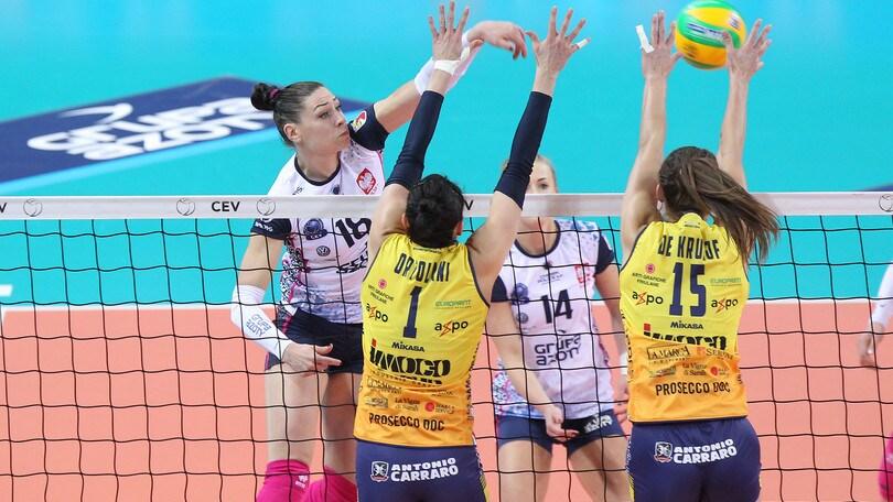 Volley: Champions Femminile, Conegliano vince in rimonta contro il Chemik