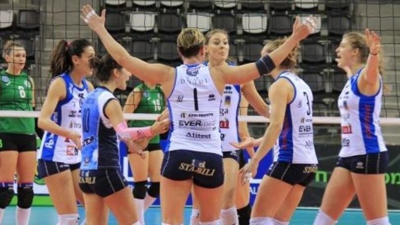 Volley: Cev Femminile, la Pomì domina in Israele e vola agli ottavi