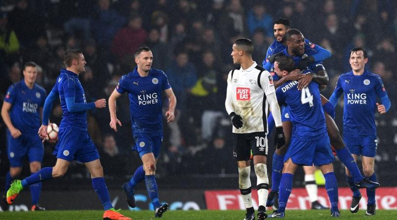 FA Cup: Derby County-Leicester 2-2, Ranieri al replay