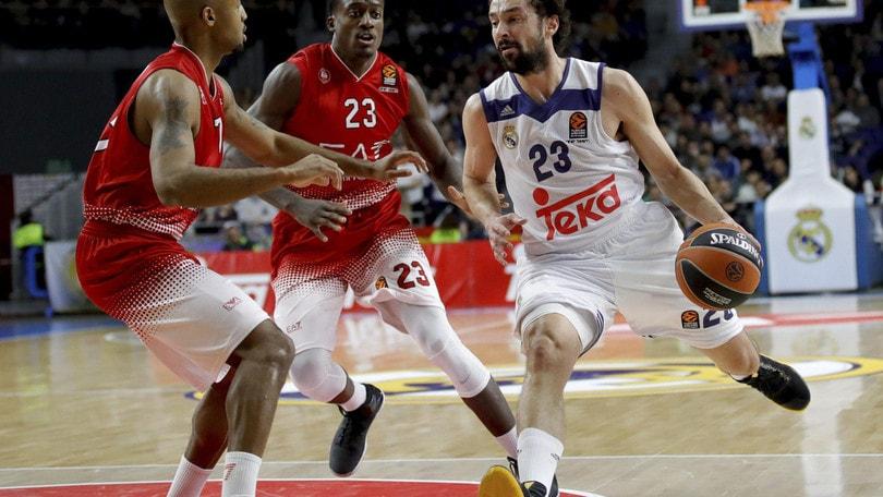 Basket Eurolega, Milano sfortunata, vince il Real