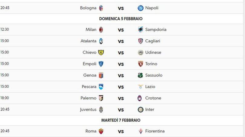 Tutto Il Calendario Serie A.Serie A Classifica Marcatori Calendario Tutto Quello Che
