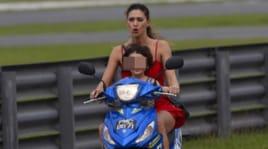 Belen Rodriguez, nuova polemica per il figlio in scooter senza casco