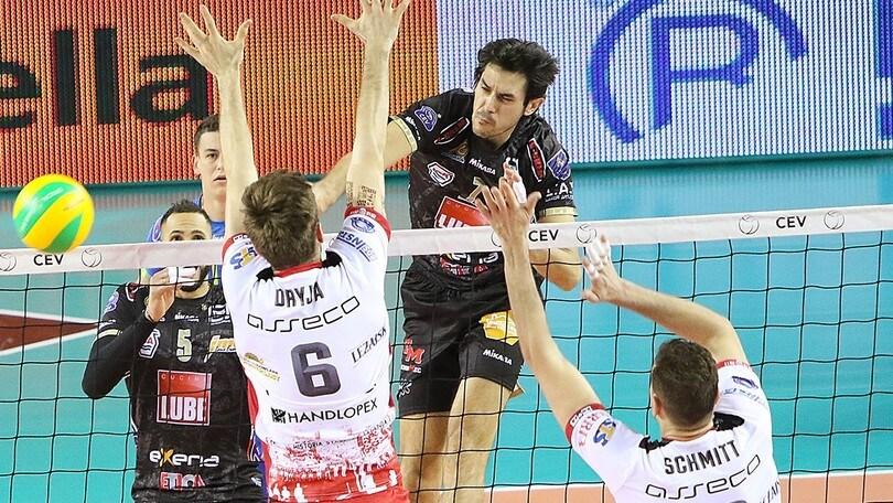 Volley: Champions League, la Lube bissa il successo sul Rzeszow