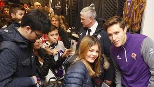 Fiorentina, quanti tifosi per Chiesa!