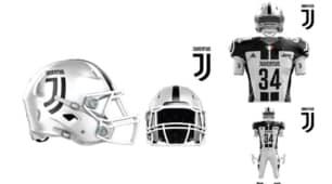 Juventus, ecco la maglia in stile football americano